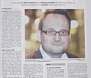 Bergische Morgenpost veröffentlich ein Portrait über mich